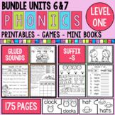 Phonics Level 1 Units 6 and 7 Suffix -s and Glued Sounds Bundle