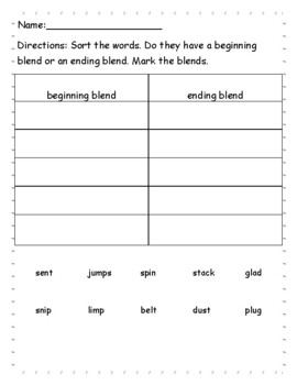Phonics level 1 unit 8-Blends, trick words *updated*