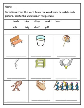 Phonics Level 1 unit 9 Resource-closed syllable words