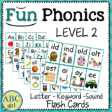 2nd Grade Fundationally FUN PHONICS Level 2 Letter-Keyword-Sound Flash Cards