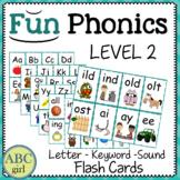 FUN PHONICS Level 2 Letter-Keyword-Sound Flash Cards