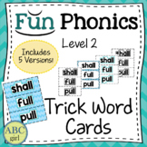 2nd Grade Fundationally FUN PHONICS Level 2 Trick Word Cards