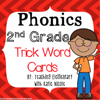Second Grade Trick/Sight Word Cards