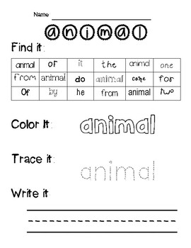 Fun-dations Level 2 Trick Word Worksheets
