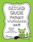 Second Grade Phonics Unit 12 Worksheets