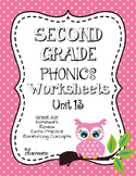 Second Grade Phonics Unit 13 Worksheets