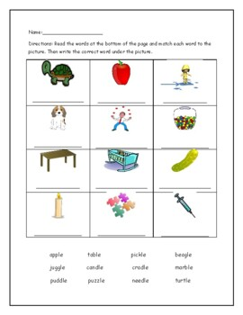 Phonics Level 2 unit 17: -le syllables, trick words, and review