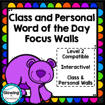 Fundations Compatible Level 2 Word of the Day Focus Wall