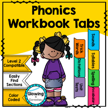Fundations Compatible Level 2 Workbook Tabs