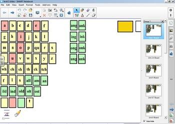 Fundations Level 3 SMARTBoard Letter Tiles/Sound Cards (Writing Page bonus)