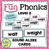 3rd Grade FUNDATIONS Level 3 Sound Alike Homophone Cards