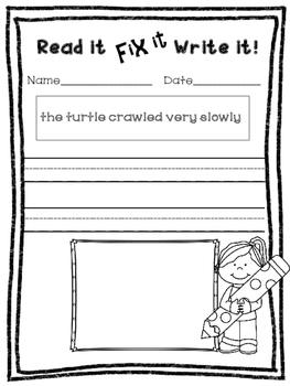 R-Controlled Vowels - Read it, Fix it, Write it!