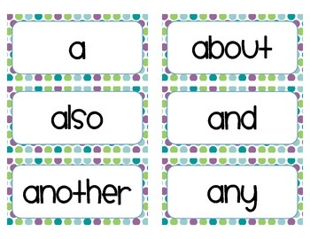 Trick Word Cards - Grade 1 (cute font)
