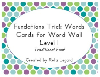 Trick Word Cards - Grade 1 (traditional font)