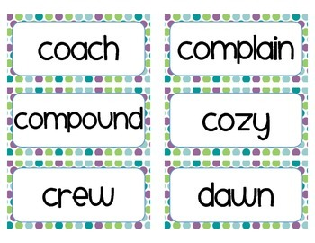 Word of the Day Cards - Grade 2 (cute font)