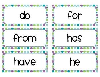 Trick Word Cards - Kindergarten (cute font)