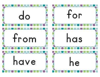 Trick Word Cards - Kindergarten (traditional font)