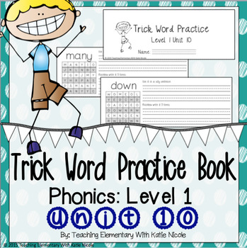 Trick/Sight Word Practice : First Grade Unit 10