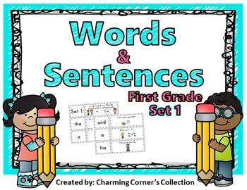 Words & Sentences ~ First Grade Set 1