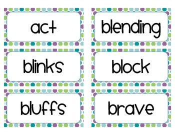 Word of the Day Cards - Grade 1 (cute font)