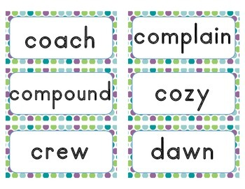 Word of the Day Cards - Grade 2 (traditional font)