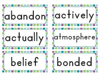 Word of the Day Cards - Grade 3 (traditional font)