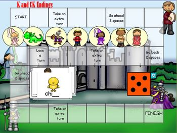 K and CK Orton Gilligham  SMART Board Lesson Activities
