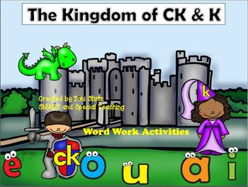 K and CK Orton Gillingham  (includes blends & glued sounds)