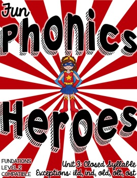 Phonics Intervention or Word Work Closed Syllable Exceptions