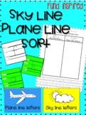 Sky line/ plane line sort writing practice