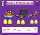 Orton Gillingham 2 Syllable Words for Smart Notebook