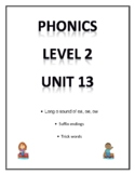 Phonics level 2 unit 13 - sounds for oa, ow, oe and trick words