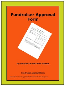 Fundraiser Approval Form