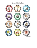 Cartoon Badges for Living Skills Class - Gamify your classroom!
