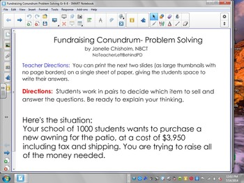 Fundraising Conundrum- Problem Solving- Editable
