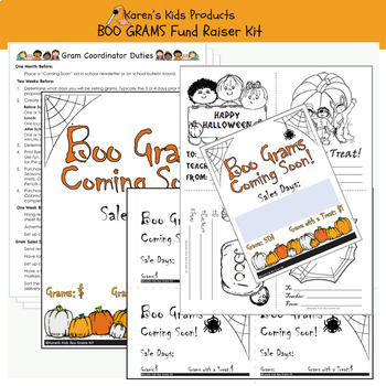 Fundraising Kit BOO GRAMS KIT