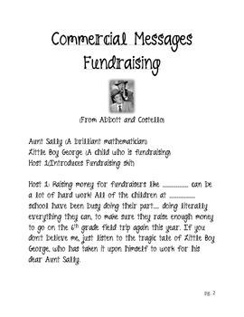 Readers Theater: Fundraising Skit