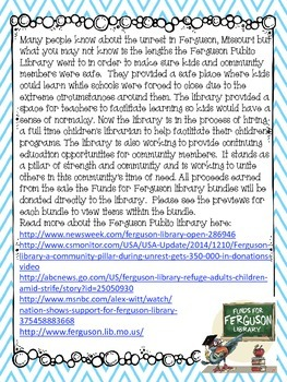 Funds for Ferguson Library is Now Over! Thank You to Everyone!!