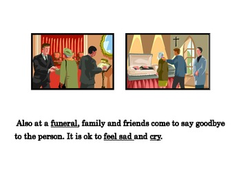 """Funeral """"Social Story"""" for Autism"""