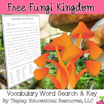 Fungi Kingdom Word Search and Key