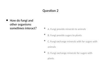 Fungus Quiz