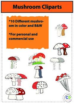 Mushroom cliparts