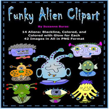 Funky Alien Clip Art