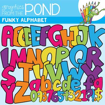 Funky Alphabet - Clipart For Teaching