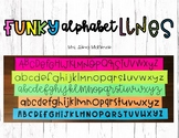 Funky Alphabet Lines