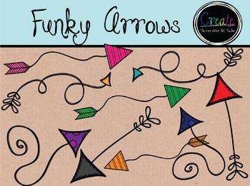 Funky Arrows - Digital Clipart