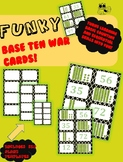 Funky Base Ten War Cards