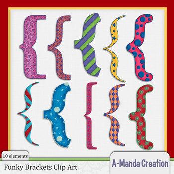 Funky Bracket Clip Art