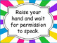 Funky Brights- Classroom Rules Poster Set