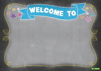 Funky Chalkboard Classroom Theme Pack